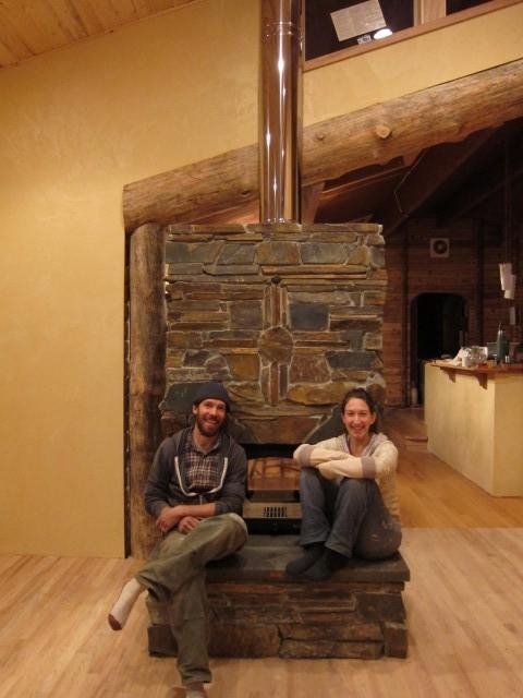 Ledge Stone Masonry Heater Near Eugene Oregon Firespeaking