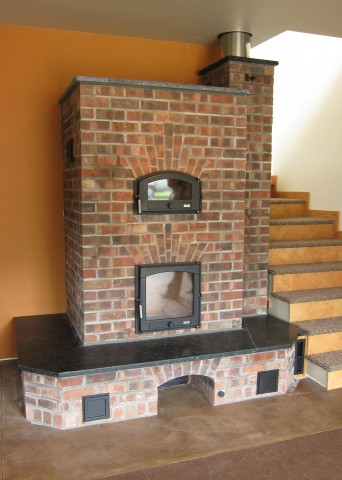 Masonry Heater by Max Edleson and Dylan Boye