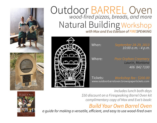 Lark Barrel Oven Workshop Poster