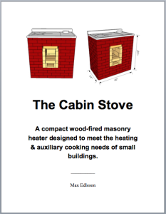 The Cabin Stove Plan Set Cover jpg